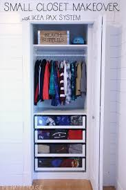 this is finn s closet it now contains his entire wardrobe of clothing he does not have nor need a dresser and because i love organization so darn much