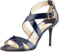 jimmy choo louise crisscross patent leather sandal navy