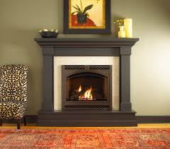 kenwood wood mantel by heat n glo dark stain small gas fireplacegas