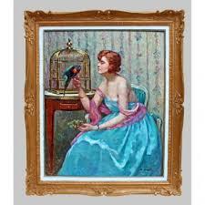 Suzanne HUREL (1876-1956) Tableau Art Déco - Tableaux portraits