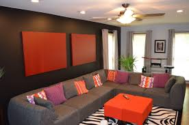 Zebra Rug Living Room Unique Orange Living Room Ideas For Sweet Home Gallery Gallery