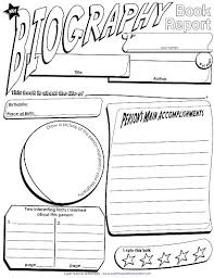 A Printable Book Report Poster Super Teacher Worksheets Biography ...