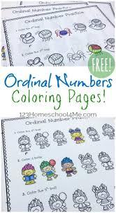 Printable coloring pages for kids. Free Ordinal Numbers Worksheet
