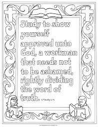 Small Picture Coloring Pages for Kids by Mr Adron Printable 2 Timothy 315