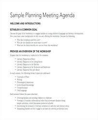 Planning Meeting Agenda Sample Of Format Word In Gulflifa Co