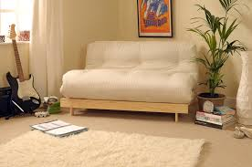 futons for small spaces. Modren Small Classic Futon With Wooden Frame And Tufted Mattress Intended Futons For Small Spaces
