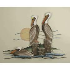 pelican wall art metal