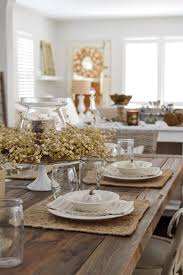 simple summer to fall dining room decorating ideas that are easy neutral farm table setting