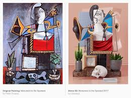 contemporary art art issue 2018 the best contemporary art ideas picasso paintings turned into 3d