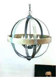 remarkable wood and metal chandelier distressed white orb chandelier rustic wood metal orb chandelier