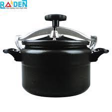 Nồi áp suất đun ga Fujika sử dụng được trên bếp từ - Màu đen - Wiki mua