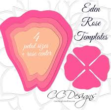 Paper Flower Templates Free Download Eden Style Giant Paper Rose Catching Colorflies