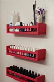 Marvellous Wall Mounted IKEA Spice Rack For Storage And Nail Coat  Organizers With Chic Space Saving Accessories Furnishing