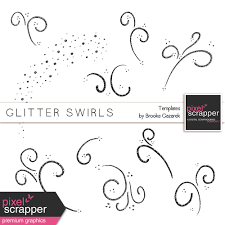 Swirls Templates Glitter Swirl Templates Kit By Brooke Gazarek Graphics Kit