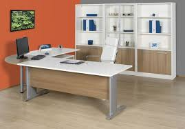 home office shaped. Furniture, Orange Grey Color Home Office L Shaped Desk Unique Picture Frame Nice H