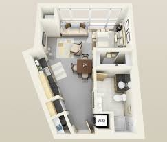 General: Studio Apartment 3d Floor Plan - Studio Apartment Plans