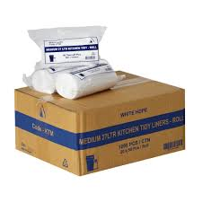 Kitchen Tidy Tailored Packaging Kitchen Bin Liners 27l 1000 Pack White