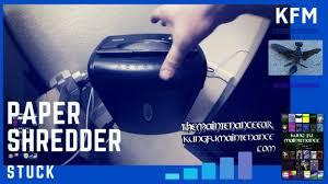 Fellowes Ps 67cs Shredder Red Light How To Fix Paper Shredder Jam Video