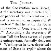 james madison s contribution to the constitution this document shows that the constitutional convention had decided to meet again on 14