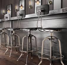 vintage toledo bar chair black enamel 120 rh 17x16x25 29 ea
