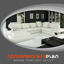 italian contemporary furniture. Modern Ivory Italian Leather Sectional Sofa With Built In Light And Shelve Large Contemporary Furniture