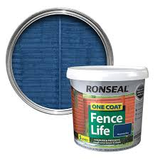 Ronseal One Coat Mountain Blue Matt Shed & Fence Stain 5L | Departments |  DIY at B&Q