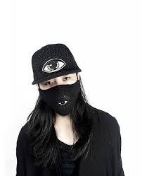 Mouth Mask Design Cotton Special Design Halloween Rave Mouth Mask For Ravers Black Eye