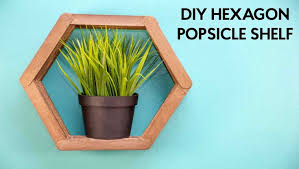 how to make honeycomb shelves from popsicle sticks