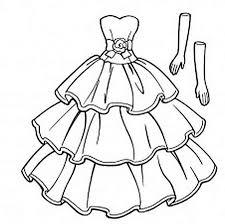 платье распечатать картинку раскраска для девочек