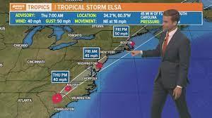 Latest: Tropical Storm Elsa - forecast ...