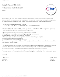 Sample Sponsorship Request Letter For Sports Event Workers