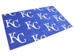 kansas city royals area rug team repeat pattern 4 x 6 7