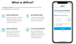 Finance Your Purchase With Affirm