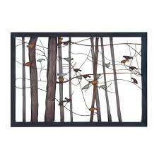 birds in trees iron wall decor