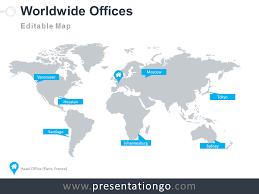 office world map. Powerpoint World Map Template Worldwide Offices Worldmap Presentationgo Office