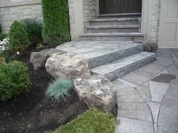 patio steps pea size x: front entrance mondrian slab natural stone steps garden
