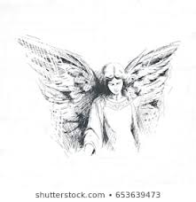 Angel Sketch Angel Drawing Images Stock Photos Vectors Shutterstock