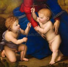 two angels painting by raphael editorial photography ilration of detail