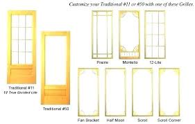 doors with glass insert french