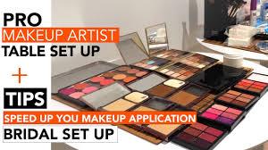 pro makeup table set up how to improve sd bridal mua tip pro makeup artists series