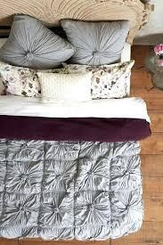 anthropologie rosette quilt purple white knockoff