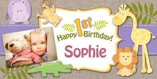 Happy Birthday Banners Personalized Personalized 1st Birthday Banner Custom Birthday Banners