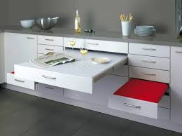 Compact Kitchen Furniture Modular Kitchen Design With Red Cabinet And Ceiling Lamps Kitchen