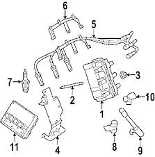 parts com® jeep cable set wrangler partnumber 68017712ac 2007 jeep wrangler sahara v6 3 8 liter gas ignition system