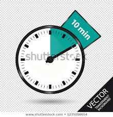 Timer 10 Minutes Timer 10 Minutes Vector Illustration Isolated Stock Vector Royalty