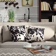 Black and White Faux Cow Hide Print Decorative Pillows (Set of 2) by  iNSPIRE Q Bold - Free Shipping Today - Overstock.com - 15414786