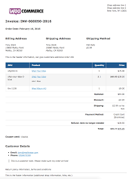 woocommerce print invoices packing lists woocommerce docs sample invoice