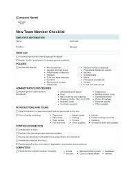 Staff Induction Checklist Sample New Template Puntogov Co