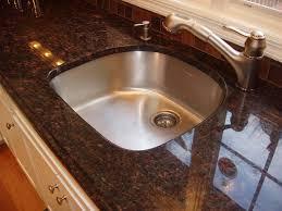 kitchen tan brown granite countertop