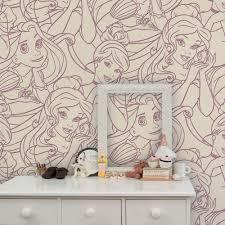 graham  brown disney princess flock pink childrens wallpaper
